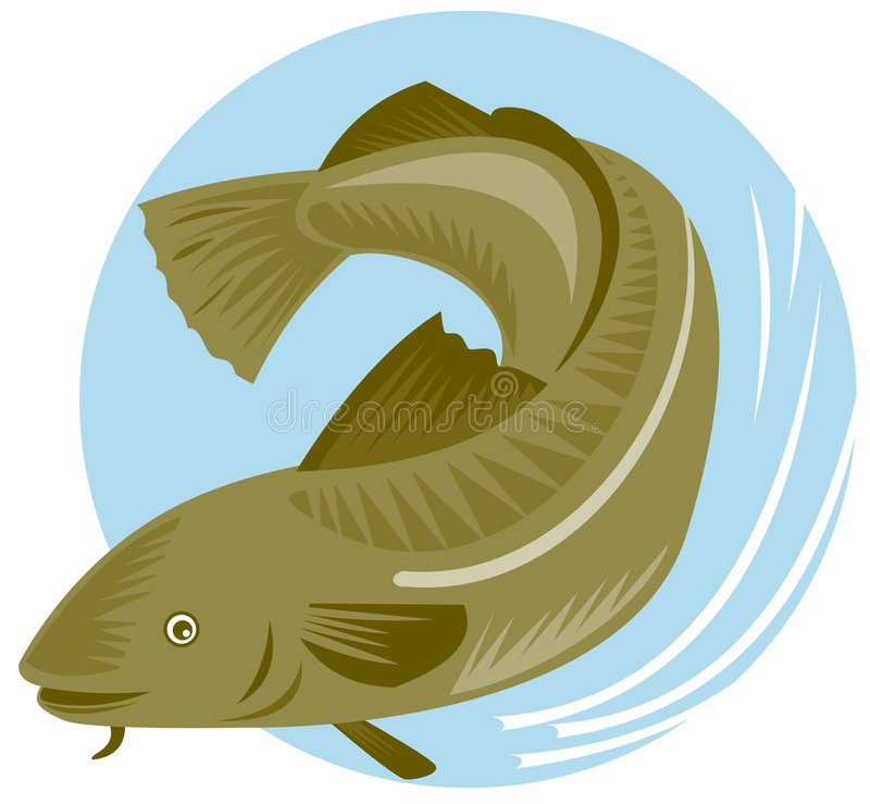 przyczyna zgonu ryb ilustracja wektor