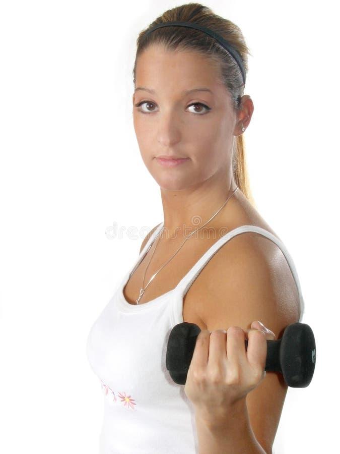 przydatność wagi kobiety fotografia stock