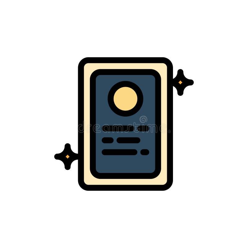 Przydział, Akcydensowy zastosowanie, Próbna Płaska kolor ikona Wektorowy ikona sztandaru szablon ilustracji