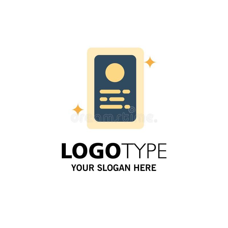 Przydział, Akcydensowy zastosowanie, Próbny Biznesowy logo szablon p?aski kolor ilustracji