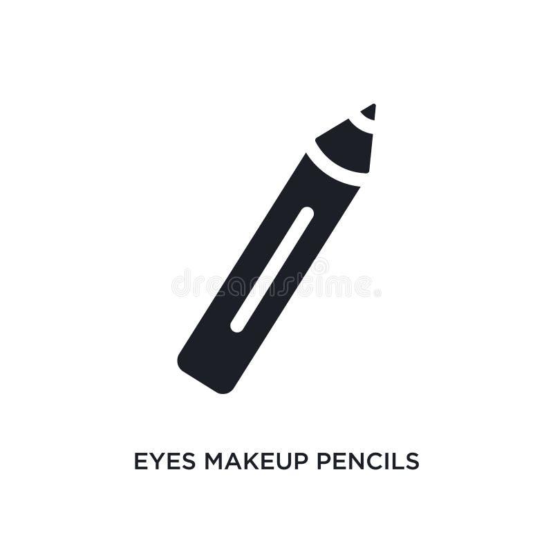 przygląda się makeup ołówek odizolowywającą ikonę prosta element ilustracja od kobiety pojęcia ubraniowych ikon przygląda się mak ilustracji