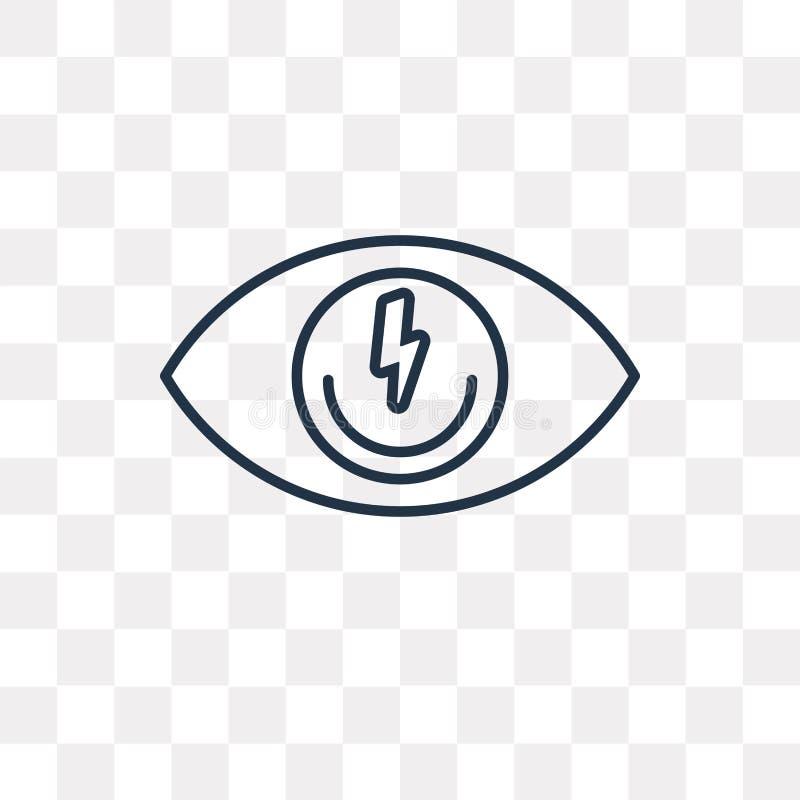 Przygląda się wektorową ikonę odizolowywającą na przejrzystym tle, liniowy oko t royalty ilustracja