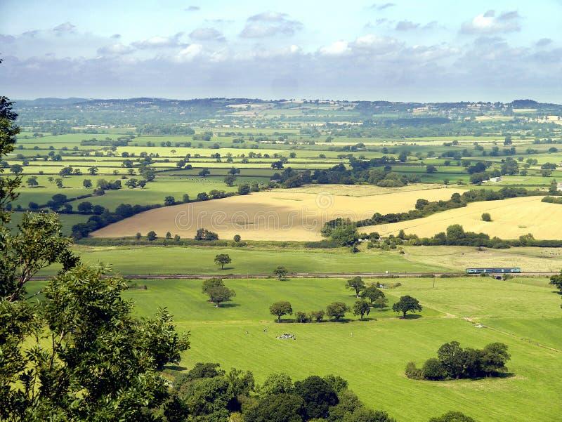 Przyglądająca północ od Beeston kasztelu, Cheshire obraz royalty free