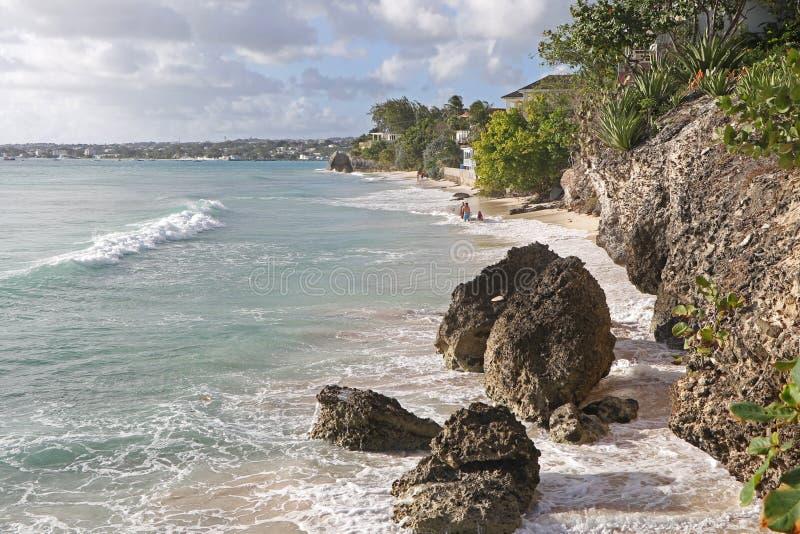 Przyglądająca wyspa karaibska Z powrotem zdjęcia stock