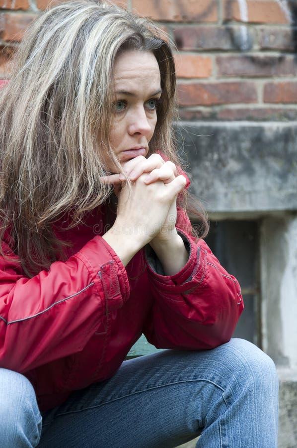 przygnębiona kobieta obrazy stock