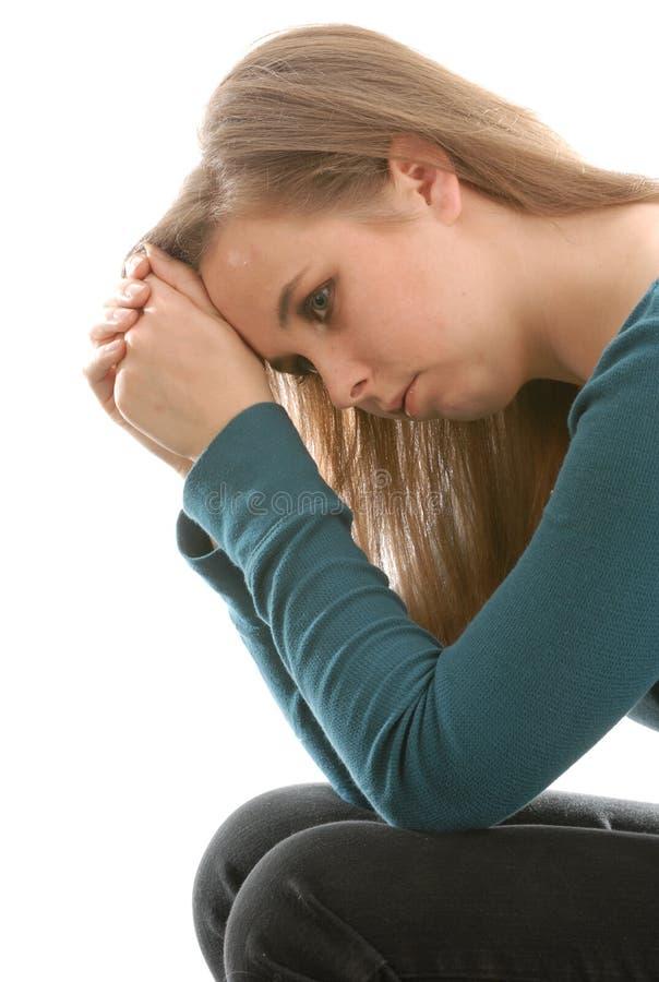 przygnębiona nastoletnia kobieta fotografia royalty free