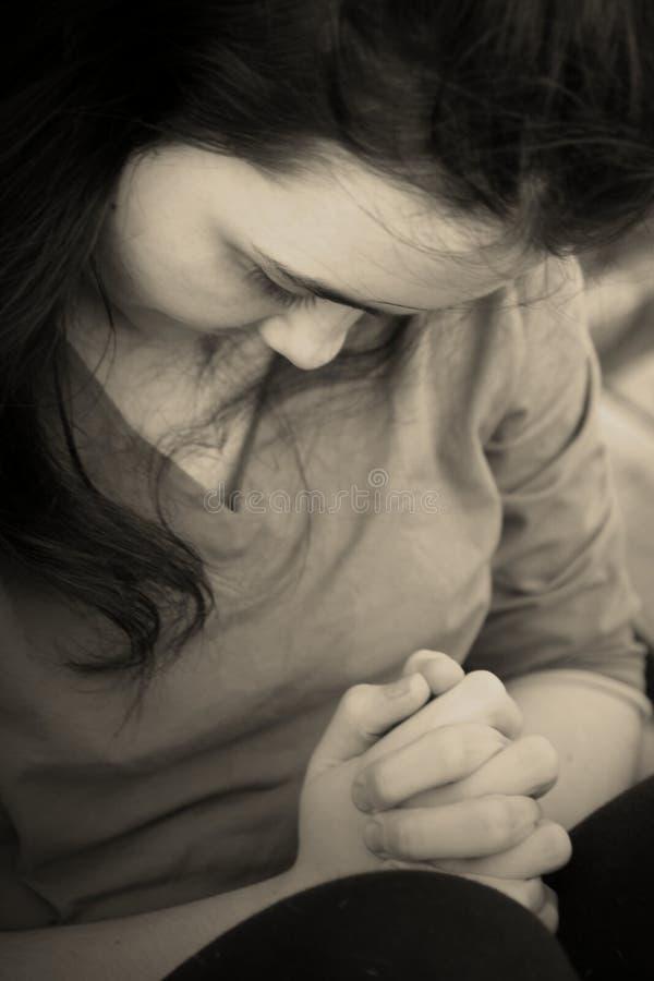 przygnębionej dziewczyny smutny nastoletni obraz stock
