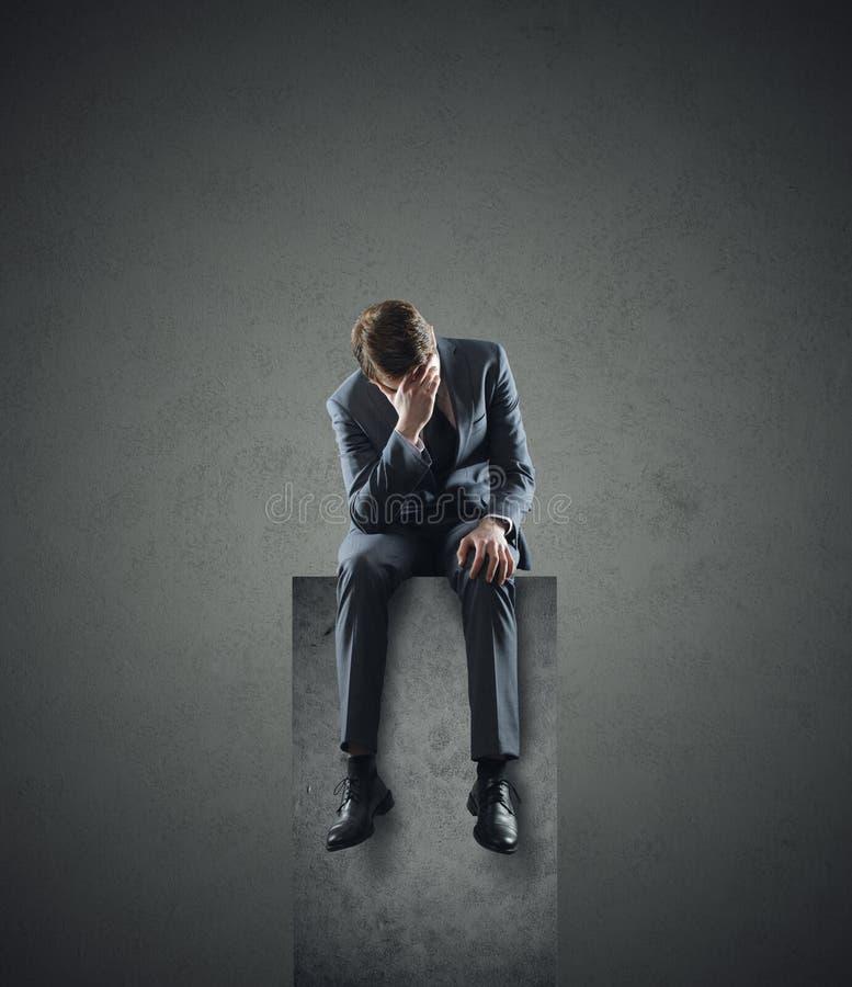 Przygnębiony biznesmen zdjęcia stock