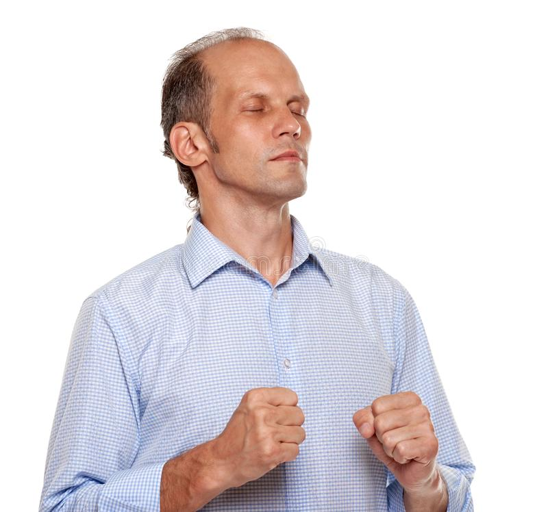 Przygnębiony gniewny mężczyzna zdjęcia stock