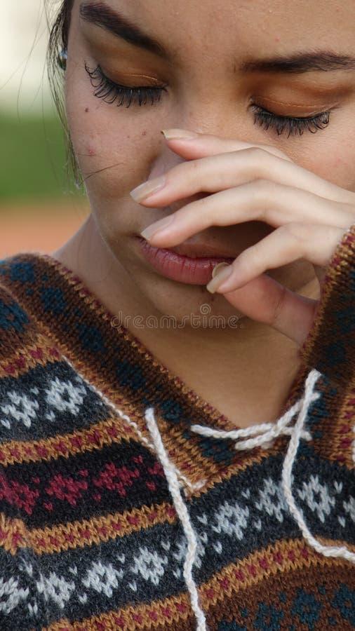 przygnębiony nastolatków obraz stock
