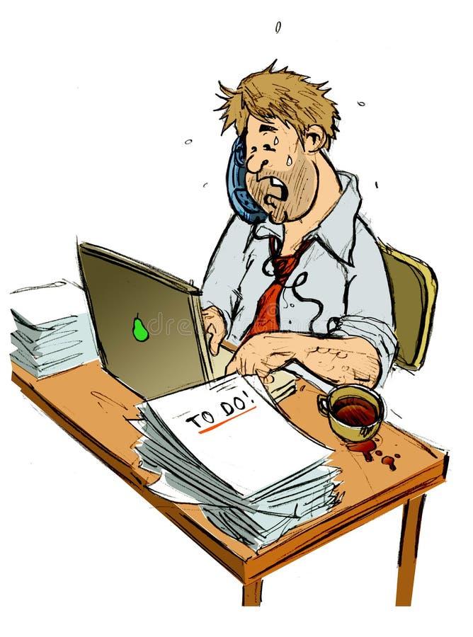 przygnębiony pracownik ilustracji