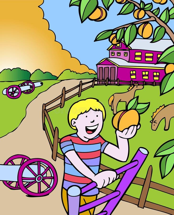 przygod Georgia dzieciaka brzoskwini target1676_1_ ilustracji