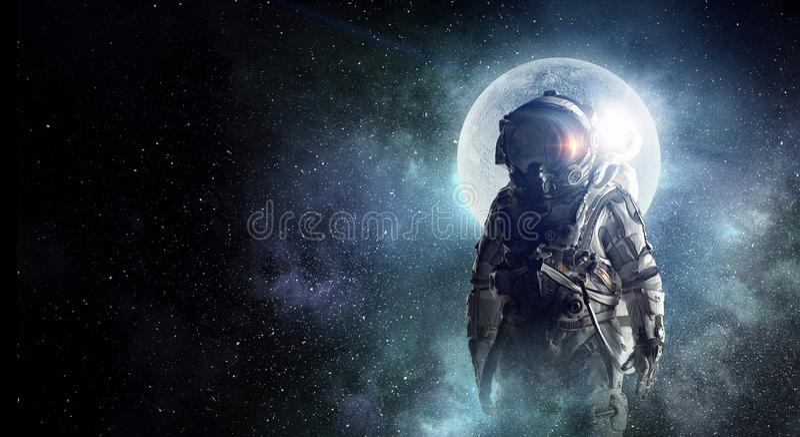 Przygoda kosmita Mieszani środki zdjęcie royalty free