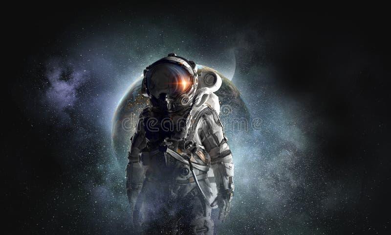 Przygoda kosmita Mieszani środki obraz stock