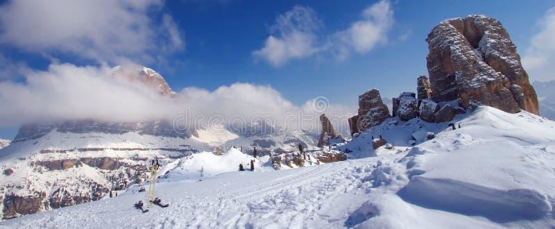 przygoda na narty dolomitów zdjęcie royalty free