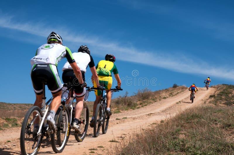 Przygoda roweru górskiego przez cały kraj maraton obraz royalty free