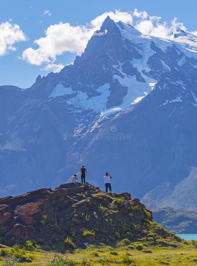 Przygoda w Torres Del Paine parku narodowym, Patagonia, Chile zdjęcia stock