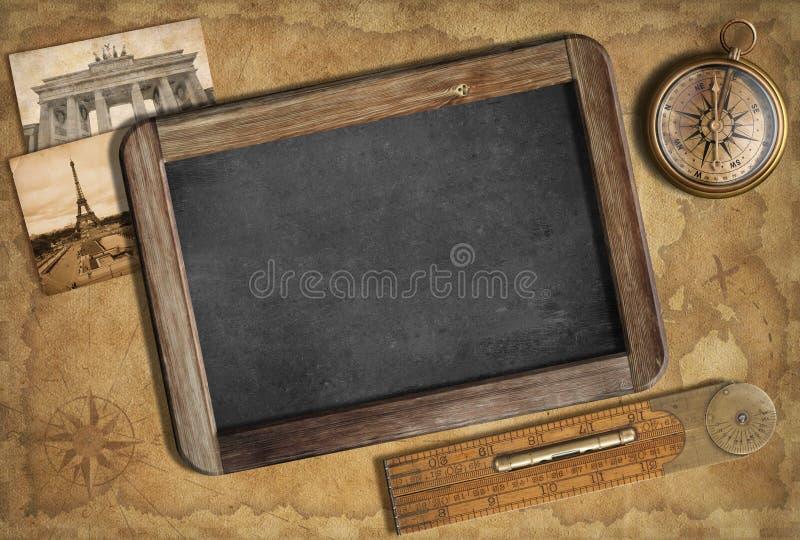 Przygody lub odkrycia pojęcie. Stary nautyczny tło. zdjęcie stock