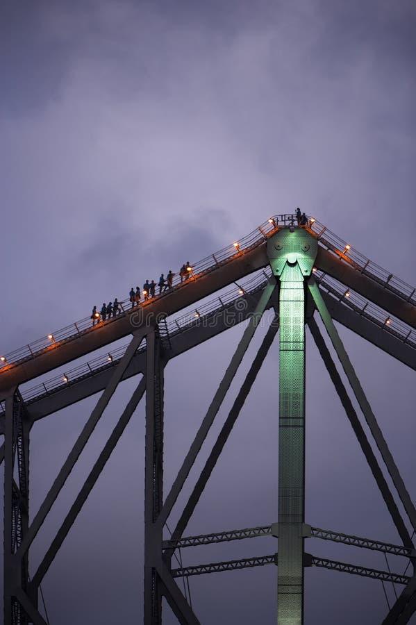 przygody mosta wspinaczki opowieść zdjęcie stock