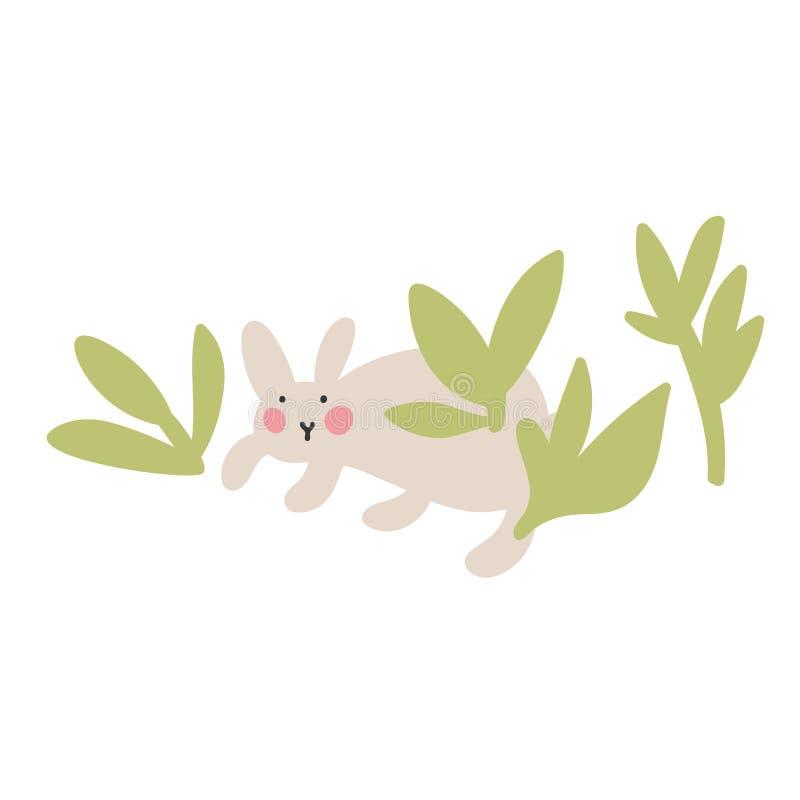 Przygody Wielkanocni króliki które są szukający wakacyjnych jajka i chujący, ilustracji