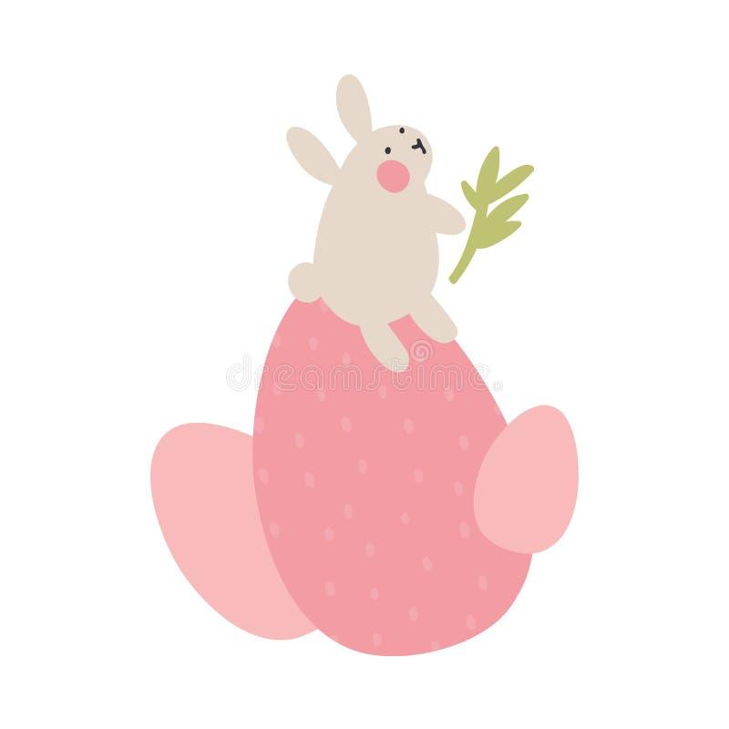 Przygody Wielkanocni króliki które są szukający wakacyjnych jajka i chujący, royalty ilustracja