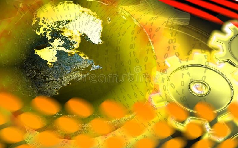 przygotować globus jasnożółtą ilustracji