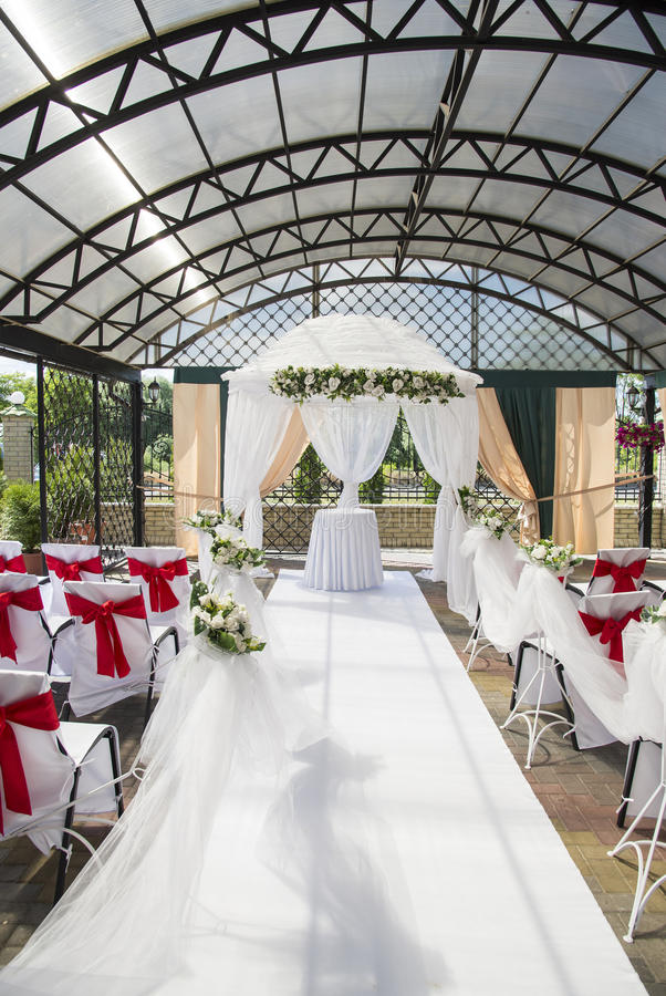 Przygotowania dla ślubnej ceremonii obraz royalty free