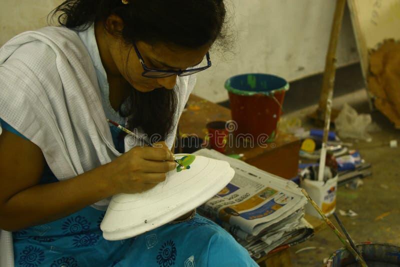 Przygotowania dla Pohela Boishakh Bengalskiego nowego roku w Dhaka obraz stock