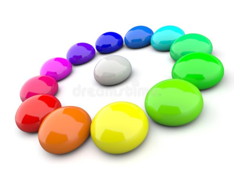 Kolorowi kamienie ilustracja wektor
