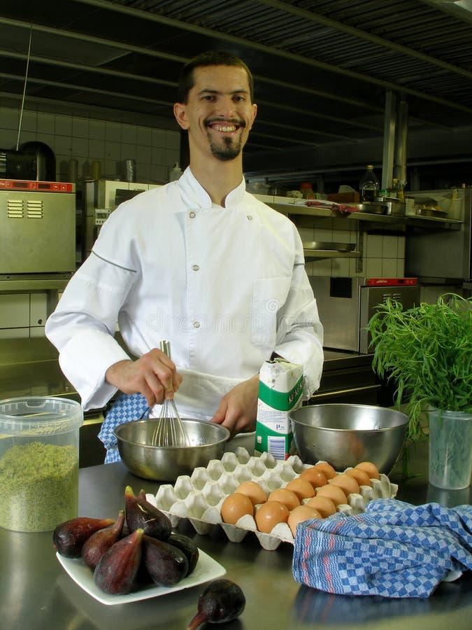 przygotowanie sos szefa kuchni obraz royalty free