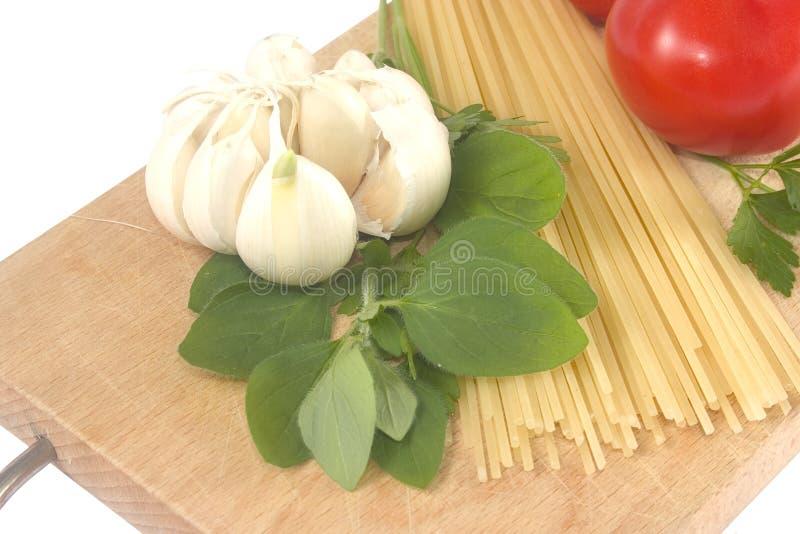przygotowanie spaghetti fotografia royalty free