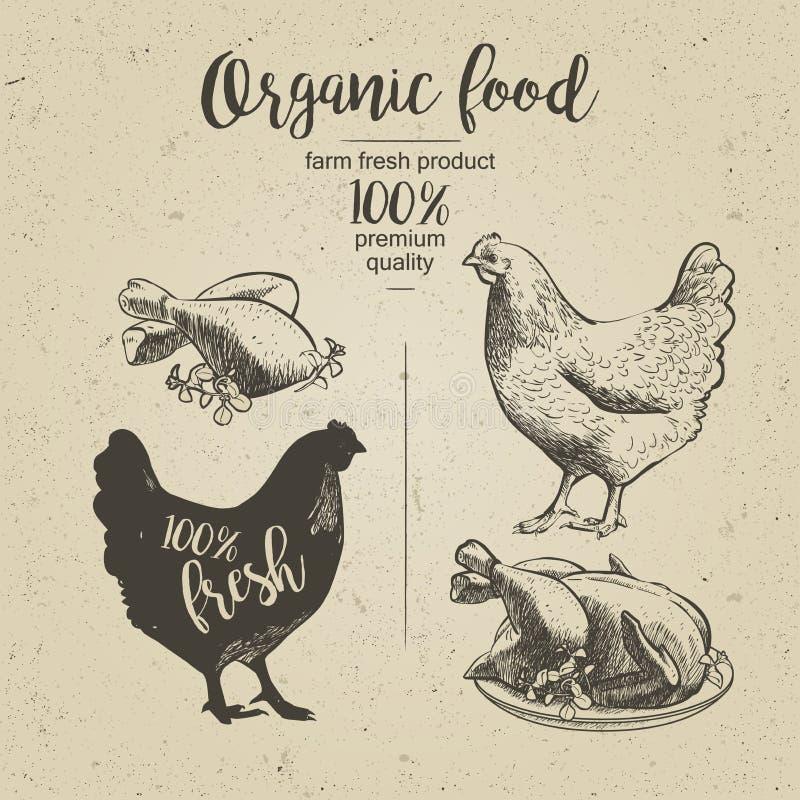 Przygotowany piec kurczak ilustracji