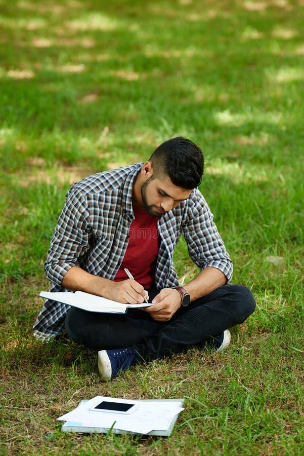 Przygotowywać dla egzaminu przy Jawnym parkiem fotografia royalty free