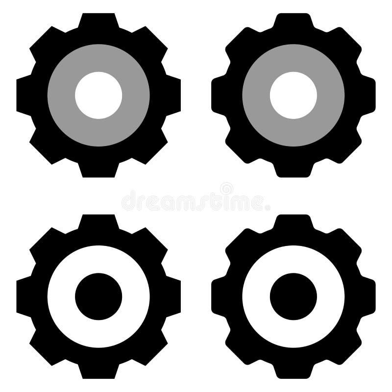 Przygotowywa ikona odizolowywającej grupy w białym tle ilustracji