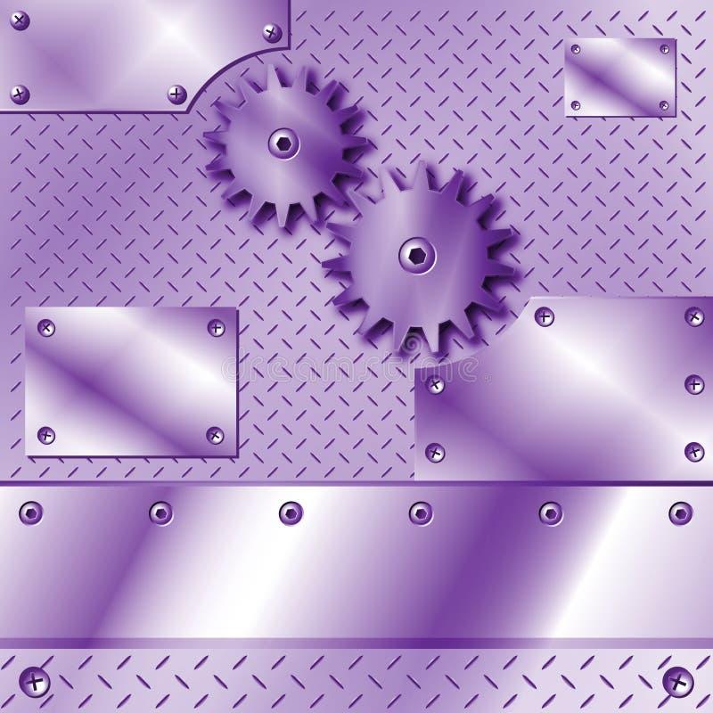 przygotowywa metalu talerza purpury royalty ilustracja