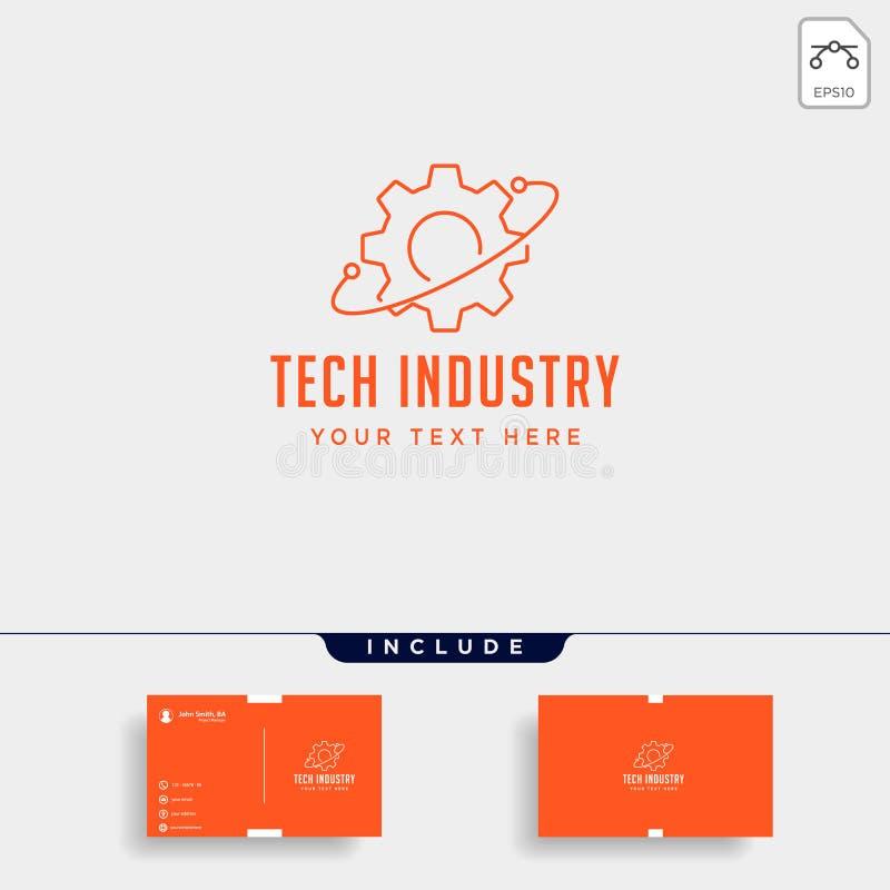 przygotowywa podłączeniową logo kreskowej sztuki projekta technologii przemysłu wektoru ikonę ilustracji