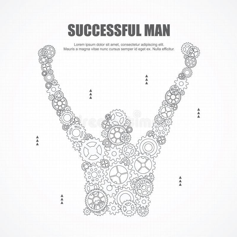 Przygotowywa pomyślnego mężczyzna dla biznesu ilustracja wektor
