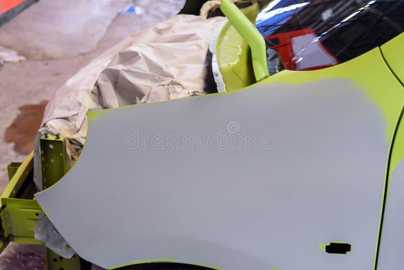 Przygotowywa samochodową powierzchnię dla kiści kolor obraz stock