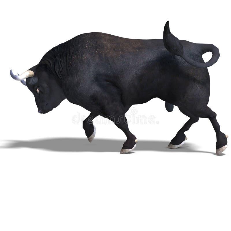 przygotowywająca byk czarny walka ilustracji