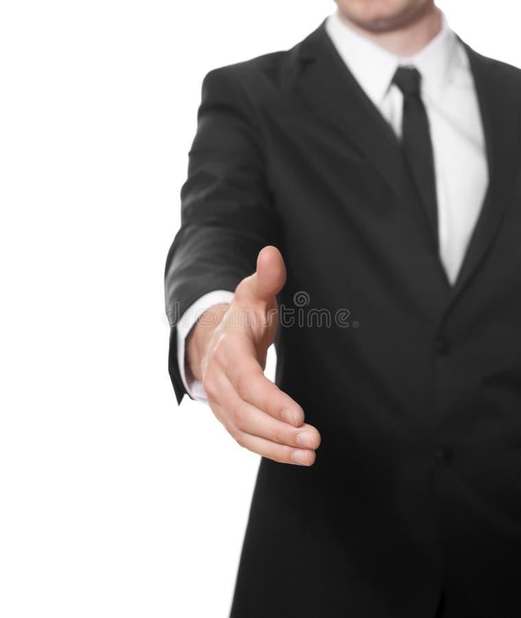 przygotowywający biznesmena uścisk dłoni obrazy royalty free