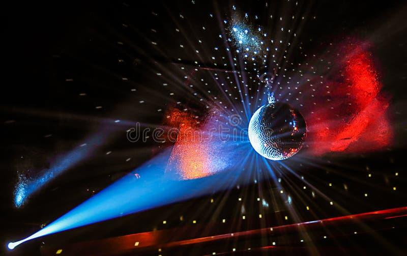 Przyjęć światła na Discoball fotografia royalty free