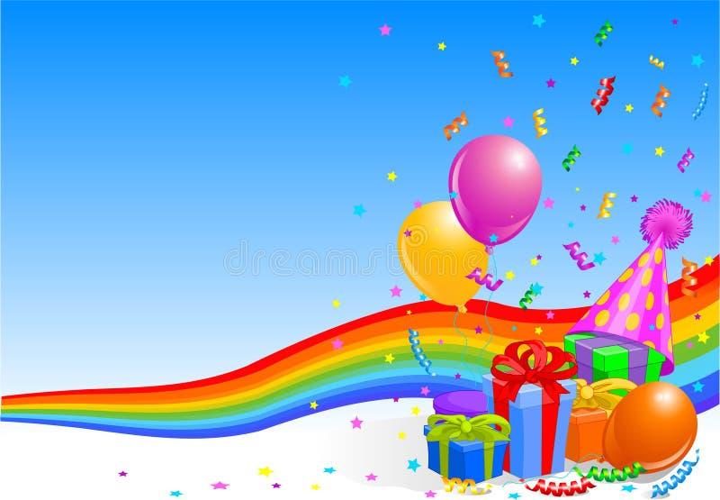 Przyjęcia urodzinowego tło ilustracja wektor
