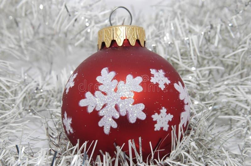 przyjęcie świąteczne ozdoby czerwony obraz stock
