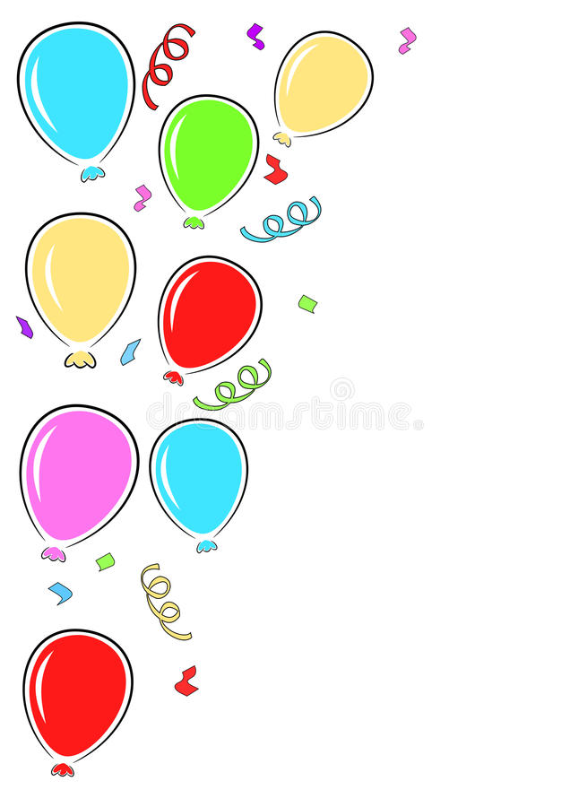 Przyjęcie balonów granica ilustracja wektor