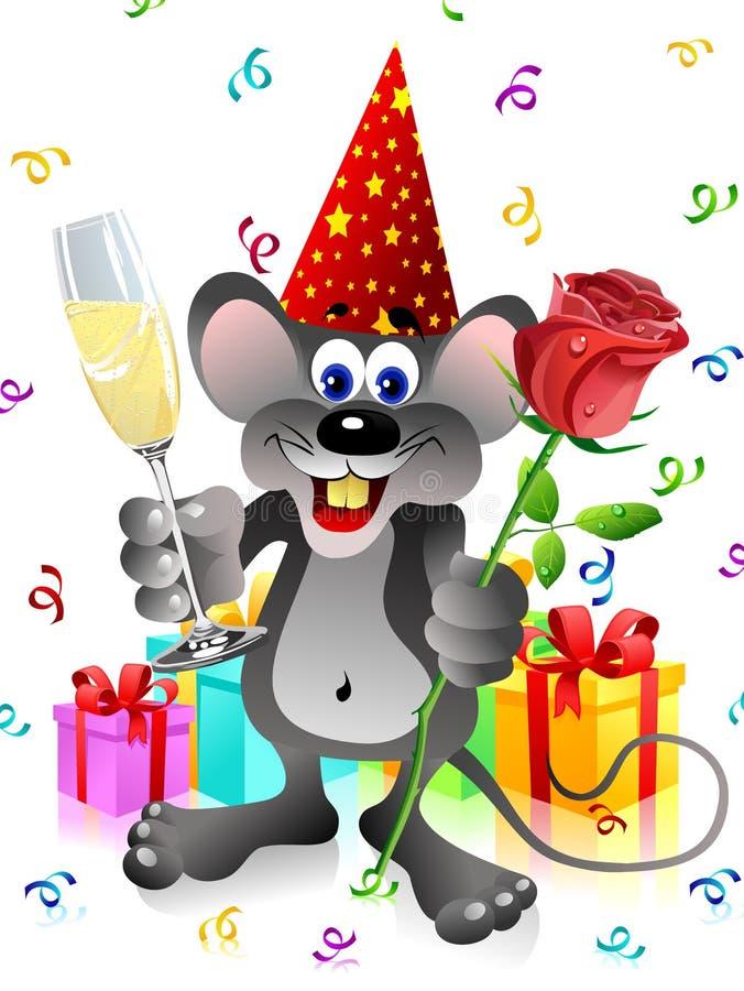 przyjęcie champa szczur rose ilustracja wektor