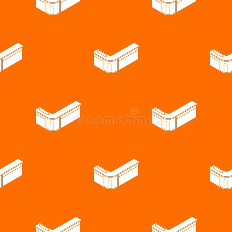 Przyjęcie stołu wzoru wektoru pomarańcze ilustracji