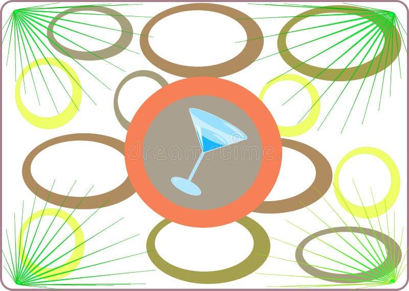 przyjęcie tropikalnych martini royalty ilustracja