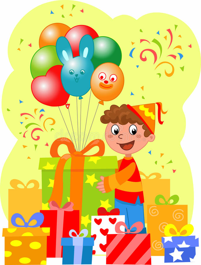 przyjęcie urodzinowe royalty ilustracja