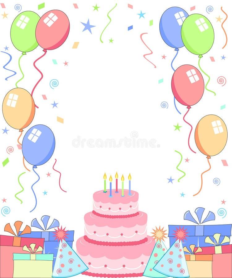 przyjęcie urodzinowe ilustracja wektor