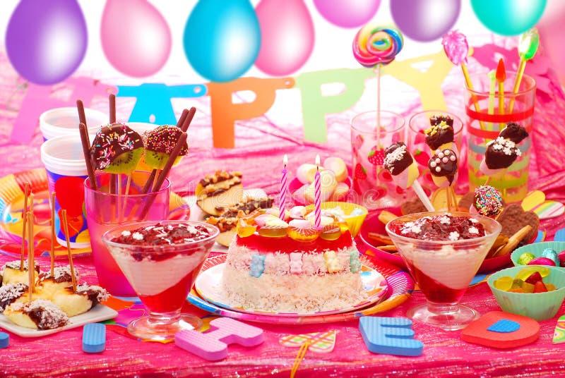 Przyjęcie urodzinowe dla dzieci obraz stock